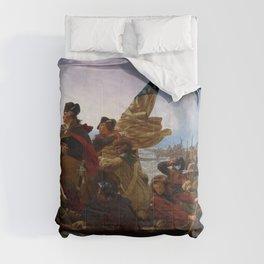 Washington Crossing the Delaware by Emanuel Leutze (1851) Comforters