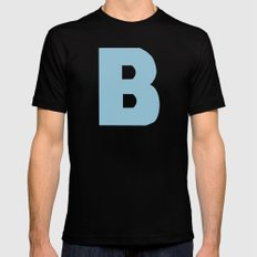 Blue B MEDIUM Black Mens Fitted Tee
