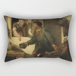 Lawrence Alma-Tadema - The Blind Beggar Rectangular Pillow