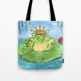 Frog King Tote Bag