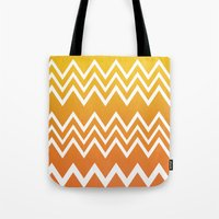 tequila Tote Bags featuring Tequila Sunrise by Color and Form
