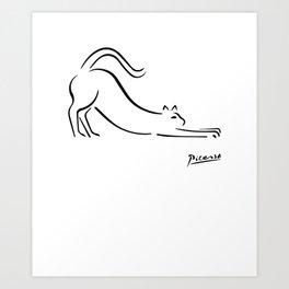 Pablo Picasso Cat Artwork Shirt, Kitten Sketch Reproduction Art Print