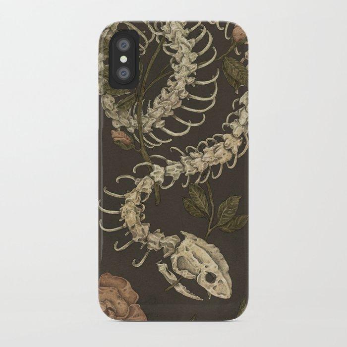 snake skeleton iphone case