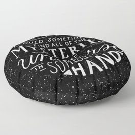 All of the Mysteries of the Universe Floor Pillow