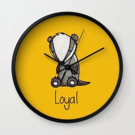 The Loyal Badger Wall Clock