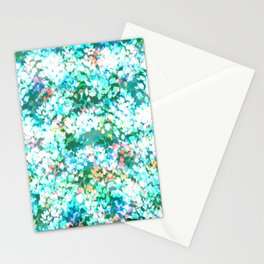 Winter Leaves (Ice Green) Stationery Cards