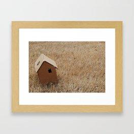 House on the Prairie Framed Art Print