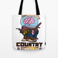 returns Tote Bags featuring country returns by benjamin chaubard