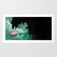 01: The Monster attacks Art Print