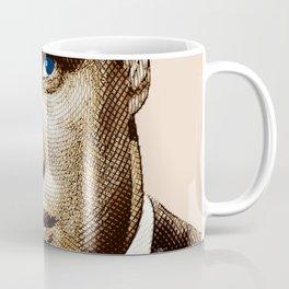 Young Marlon Brando Etching Sepia Gold Coffee Mug