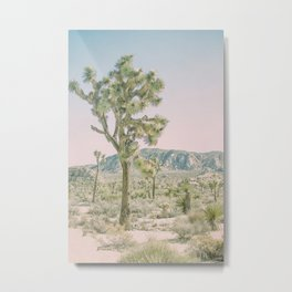 Joshua Tree Ombre Metal Print
