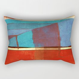 "Literatura de cordel  ""A Chegada de Lampião no Céu""(The Arrival of ""Lampião"" in Heaven) Rectangular Pillow"