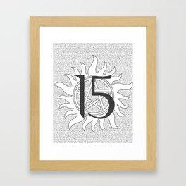 SPN Print (White) Framed Art Print