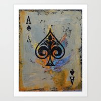 ace attorney Art Prints featuring Ace by Michael Creese
