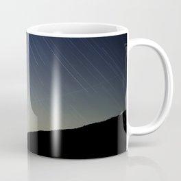 Star trails over Stony Mountain Coffee Mug