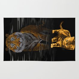 Cute Little Baby Hobbes tiger cat iPhone 4 4s 5 5s 5c, ipod, ipad, pillow case and tshirt Rug