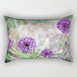 Purple Allium Rectangular Pillow