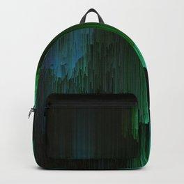 Aurora Borealis - Abstract Glitchy Pixel Art Backpack