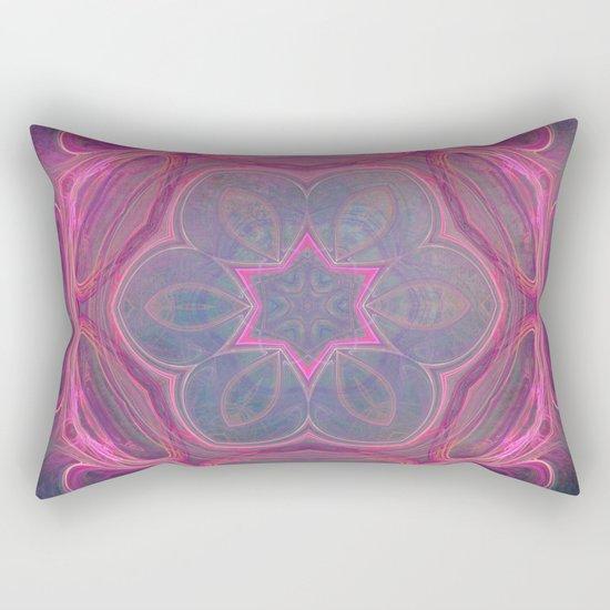 whimsical fractal love in pink Rectangular Pillow