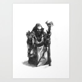 Dwarven Cleric Art Print
