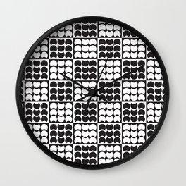 Hob Nob Black White Quarters Wall Clock
