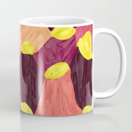 Quilt Abstract Painting 2 Beach Surf Wave Coffee Mug