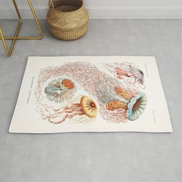 Jellyfish Illustration Rug