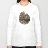 buildings Long Sleeve T-shirts featuring Buildings by Protogami