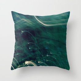 Disappearance Of Light (Late Walk) Throw Pillow