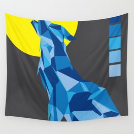 Geo Wolf Wall Tapestry