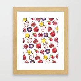 Mixed fruit pattern Framed Art Print