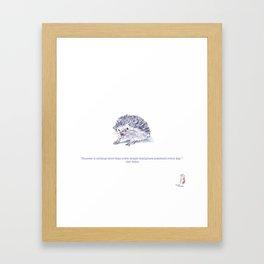 Cute Tiny Adorable Inspiration Hedgehog Framed Art Print