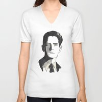 twin peaks V-neck T-shirts featuring twin peaks by sharon