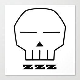 Zzz Skull Canvas Print