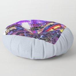 Mirrored Purple Disco Ball Heart  Floor Pillow