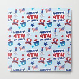 July 4th Neck Gaiter Happy 4th of July Fourth of July Neck Gator Metal Print