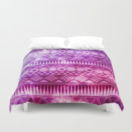 Tribal Fuschia.  Duvet Cover