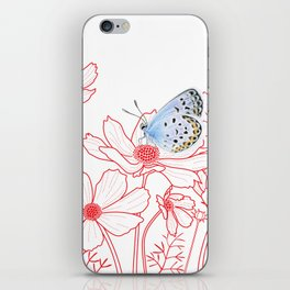 Cosmos and Butterfly iPhone Skin