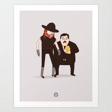The Undertaker & Paul Bearer - Pro Wrestling WWE Illustration Art Print