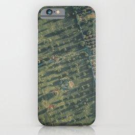 Aerial photography, italian landscape, drone photo, olive trees, Puglia, Apulia iPhone Case