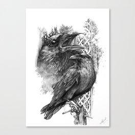 Huginn and Muninn - Michelle S. Have Canvas Print