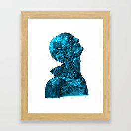 Sacred Man-Aqua Framed Art Print