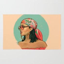 Rihanna Wild Thoughts Portrait Rug