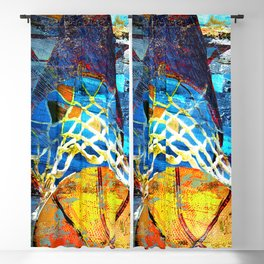 Basketball art swoosh 102 Blackout Curtain
