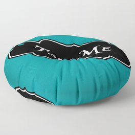 """Toss Me"" Alice in Wonderland styled Bottle Tag Design in 'Alice Blue' Floor Pillow"