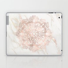 Rose Gold Mandala Marble Laptop & iPad Skin