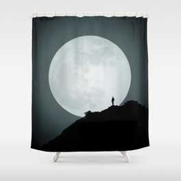 The Photographer and the Moon Shower Curtain