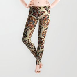 Kashkuli  Antique Fars Persian Tribal Rug Print Leggings