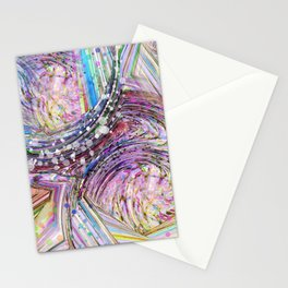RAINBOW IN A BLENDER ABSRACT Stationery Cards