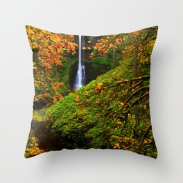 Images USA Silver Falls State Park Autumn Nature W Throw Pillow